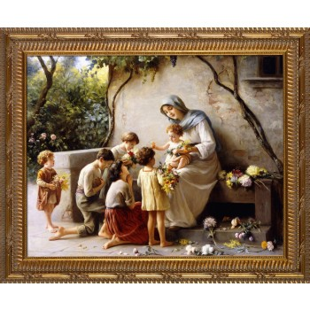 Adoration by Guiseppe Magni Ornate Gold Frame