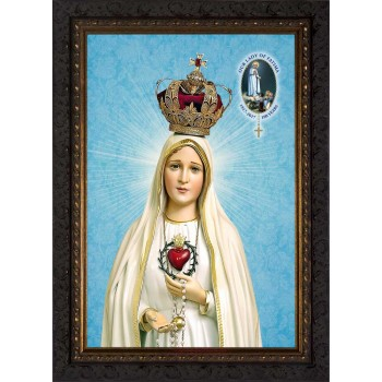 Fatima 100 Year Anniversary - Ornate Dark Framed Art