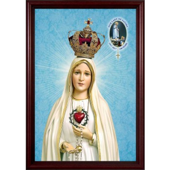 Fatima 100 Year Anniversary - Cherry Framed Art
