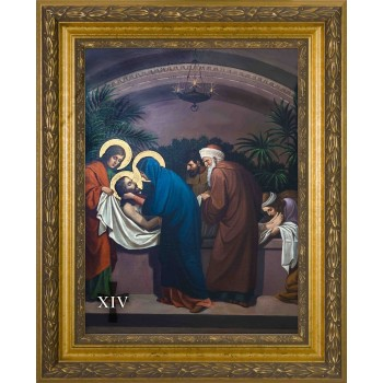 Emmerich Stations of the Cross (Set of 14) in Large Gold Frames