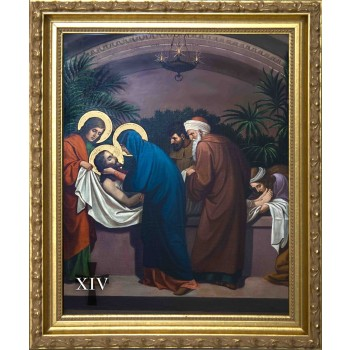 Emmerich Stations of the Cross (Set of 14) in Gold Frames