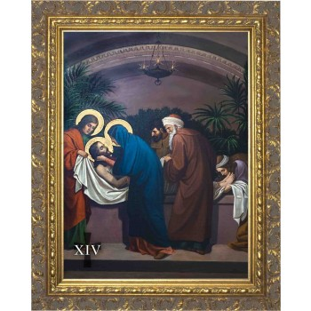 Emmerich Stations of the Cross (Set of 14) in Ornate Gold Frames