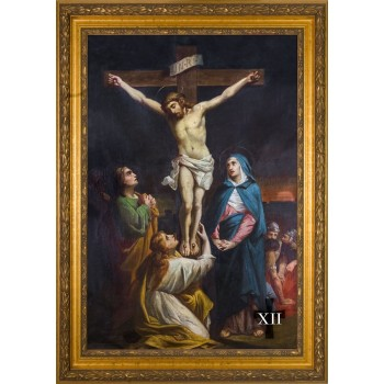 Bertucci Stations of the Cross (Set of 14) in Large Gold Frames