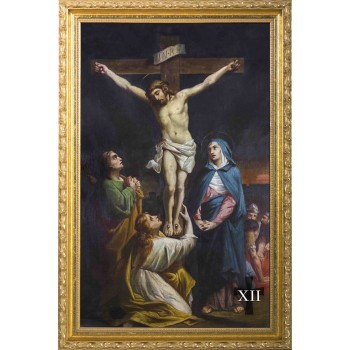 Bertucci Stations of the Cross in Gold Frames (Set of 14)