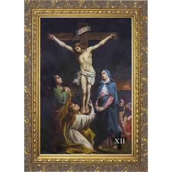 Bertucci Stations of the Cross (Set of 14) in Ornate Gold Frames