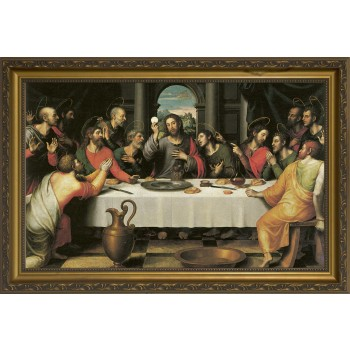 The Last Supper by Juan de Juanes - Standard Gold Framed Art