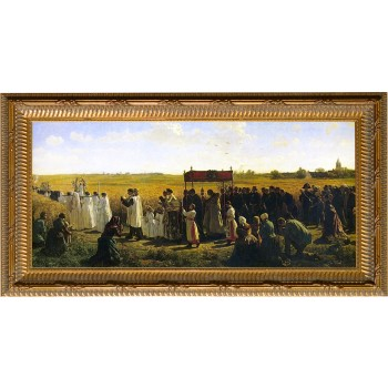 The Blessing of the Wheat - Ornate Gold Framed Art