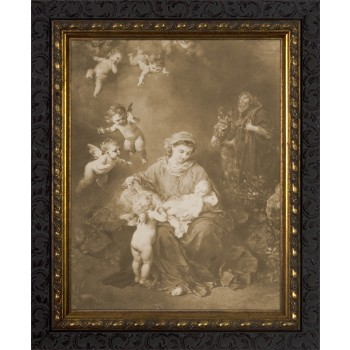 The Holy Family by Ludwig Knaus Framed Art