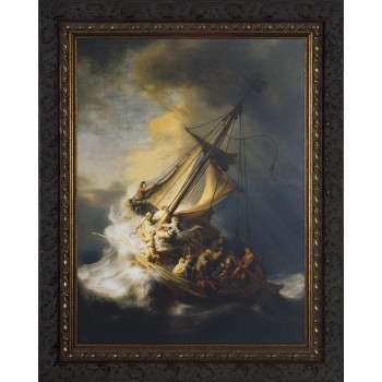 Storm on the Sea of Galilee by Rembrandt Framed Art