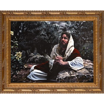 Agony in the Garden by Jason Jenicke - Standard Gold Framed Art