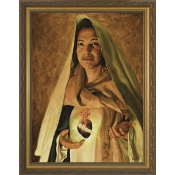 Immaculate Heart of Mary by Jason Jenicke - Standard Gold Framed Art