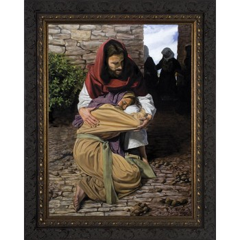 A Prodigal Daughter by Jason Jenicke - Ornate Dark Framed Art