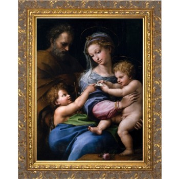 Madonna della Rosa - Ornate Gold Framed Art