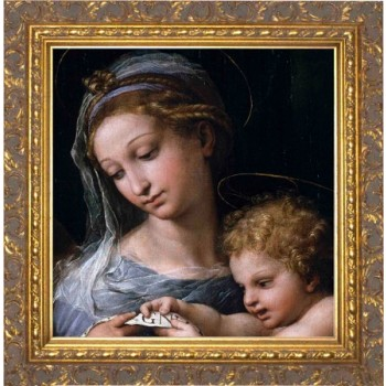 Madonna della Rosa (Detail) - Ornate Gold Framed Art