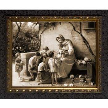 Sepia Adoration by Guiseppe Magni Framed Art Ornate Frame