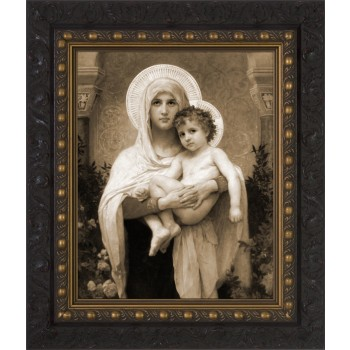 Madonna of the Roses (Sepia) Framed Art