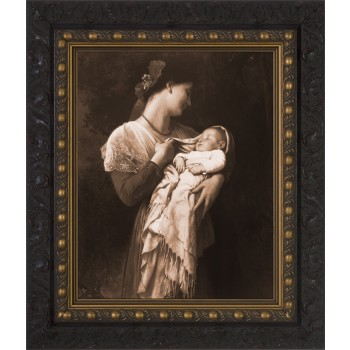 Maternal Admiration (Sepia) Framed Art