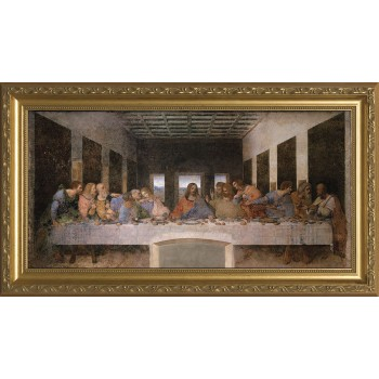 Last Supper by Da Vinci Canvas - Standard Gold Framed Art