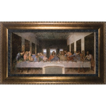 Last Supper by Da Vinci Canvas - Bronze Framed Art