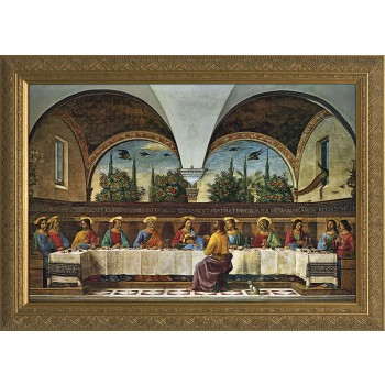 The Last Supper by Domenico Ghirlandaio Church-Sized Framed Canvas Art