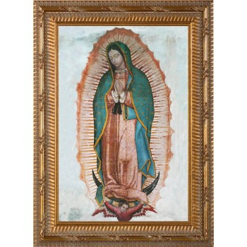 Our Lady of Guadalupe Canvas - Ornate Gold Framed Art