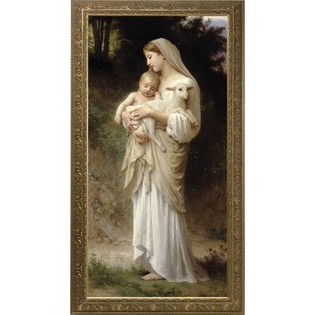 L'Innocence Canvas - Ornate Gold Framed Art