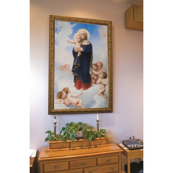 Notre Dame des Anges by William Bougereau: Ornate Gold Framed Canvas