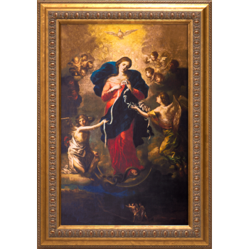 Mary Undoer of Knots Canvas: Ornate Gold Framed Art