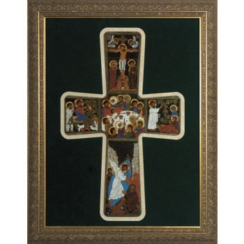 Pentecost Cross Framed Art