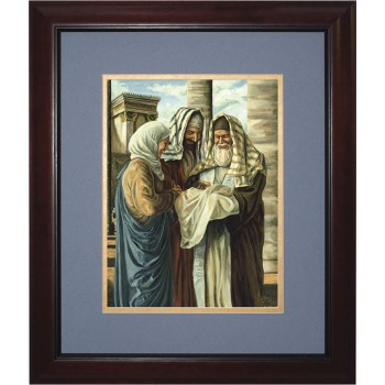 Presentation in the Temple by Jason Jenicke Matted - Cherry Framed Art