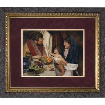The Holy Family by Jason Jenicke Matted - Ornate Dark Framed Art