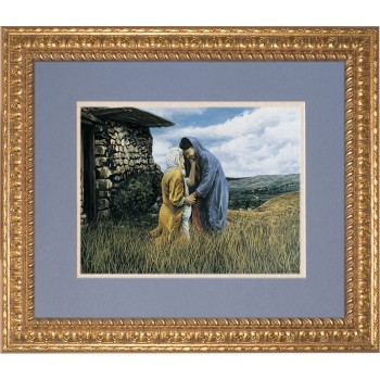 The Visitation I by Jason Jenicke Matted - Ornate Gold Framed Art (Limited Edition)