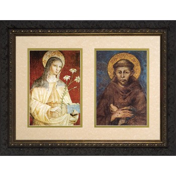 Sts. Francis and Clare Matted Framed Art