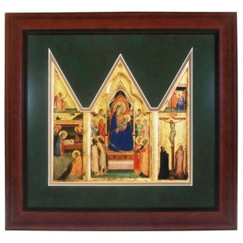 Madonna and Child Matted Triptych Art