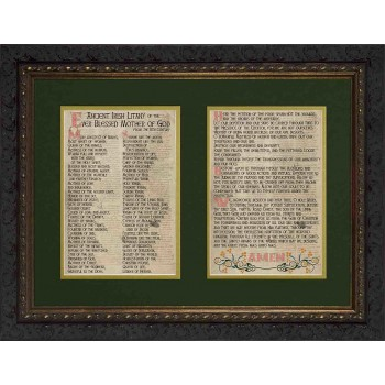 Ancient Irish Litany of Our Lady Matted Framed Art