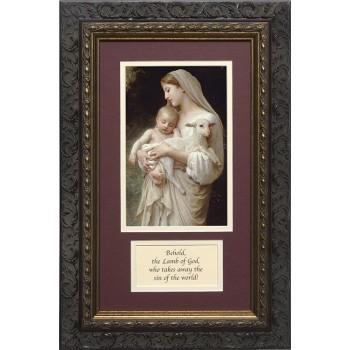 L'Innocence Matted with Prayer - Ornate Dark Framed Art
