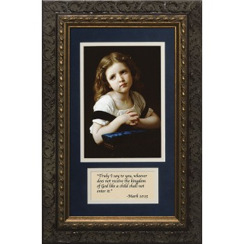 La Priere with Prayer Framed