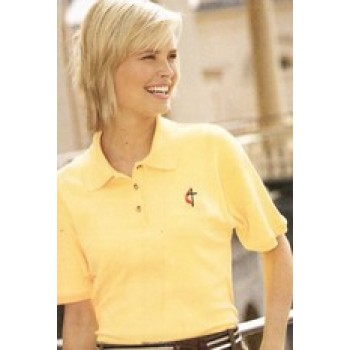 Ladies Egyptian Cotton Polo with Religious Symbol