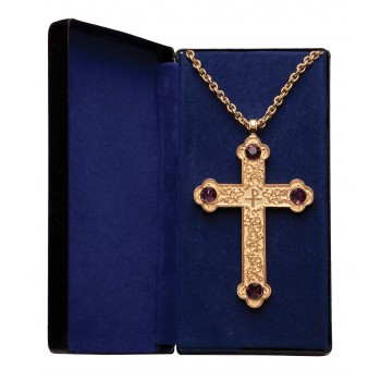 Pectoral Cross with Four Amethyst