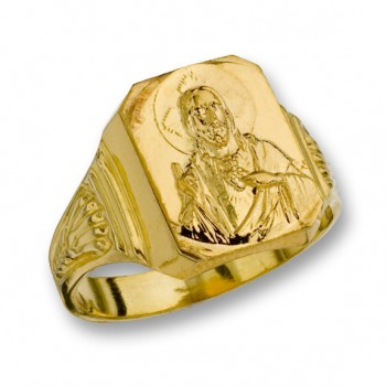 14 Kt. Yellow Gold Sacred Heart of Jesus Ring