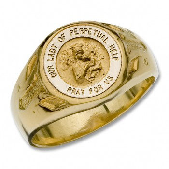 14 Kt. Gold Perpetual Help Ring