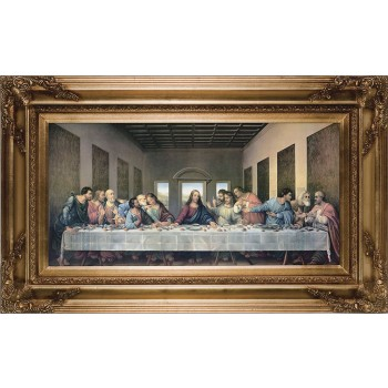 Last Supper by Da Vinci Restored Museum Framed Art