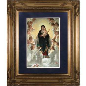 Queen of Angels Matted - Gold Museum Framed Art