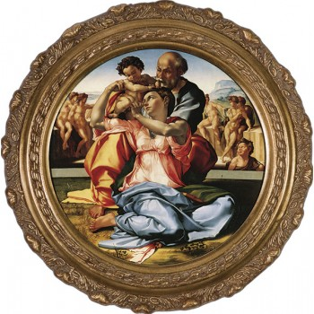 Holy Family by Michaelangelo Framed Art