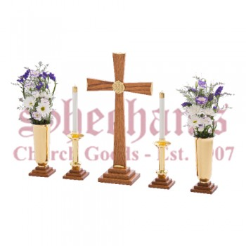 Exaltation Walnut Altar Set