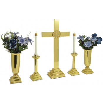 "30"" Altar Set with IHS Ring"