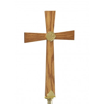 Oak Processional Cross Top