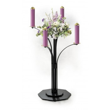 Powder Coated Contemporary Advent Wreath