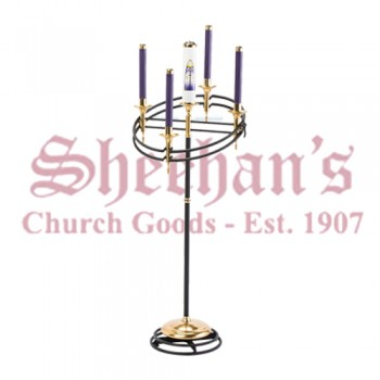 Contemporary Advent Wreath With Adjusting Head