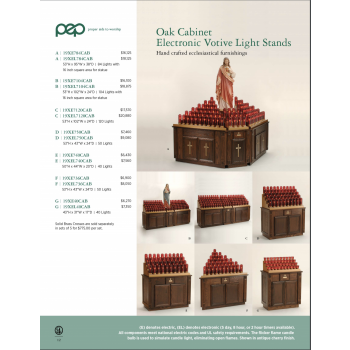 Oak Table Electric and Electronic Votive Light Stands